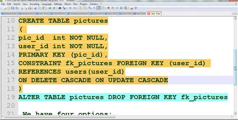 sql create table with foreign key mysql foreign key constraint