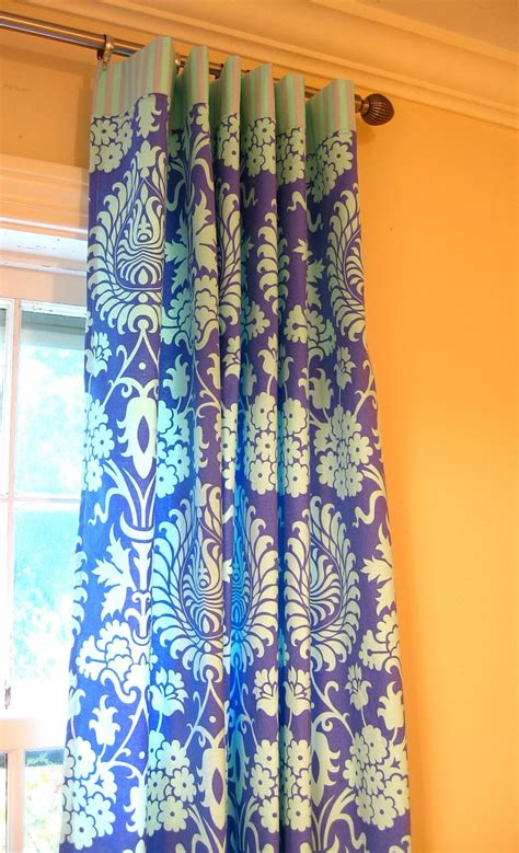 amy butler curtains window panels drapery curtain amy butler love periwinkle
