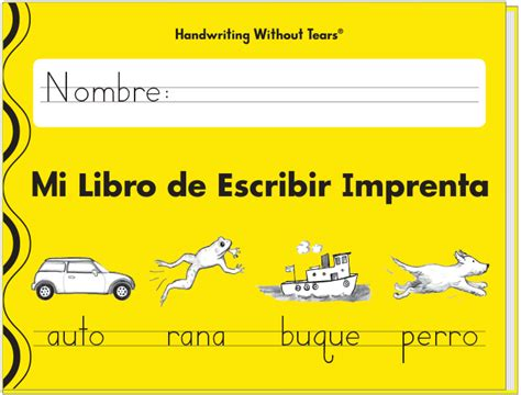libro learn spanish words mi libro de escribir imprenta spanish learning without tears