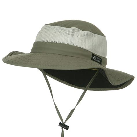 UPF 50  Explorer Mesh Outdoor Hat: UV Sun Block Hat