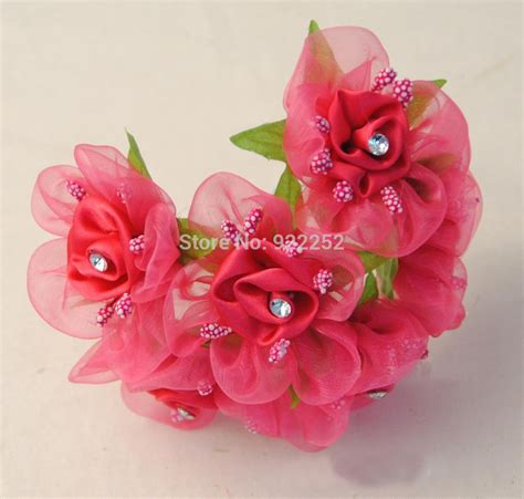 homemade flowers flower making satin ribbon artificial small roses with