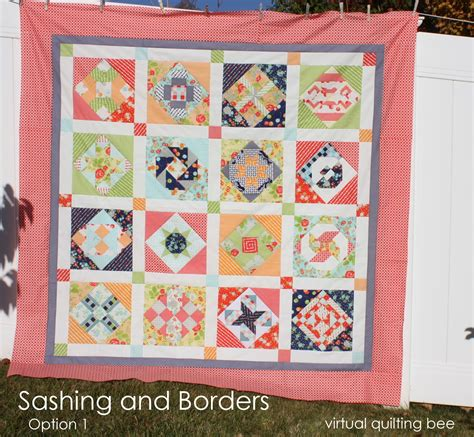 How To Make A Quilt Border by Quilting Bee Sashing And Borders Diary Of A