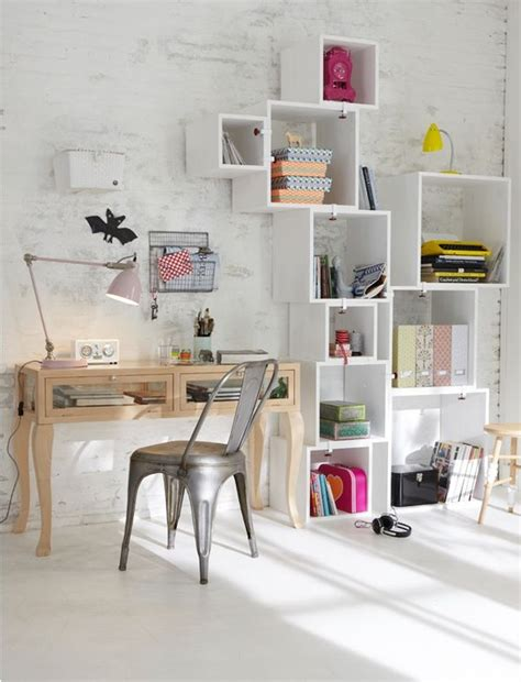 decorate office shelves wall mounted box shelves a trendy variation on open shelves