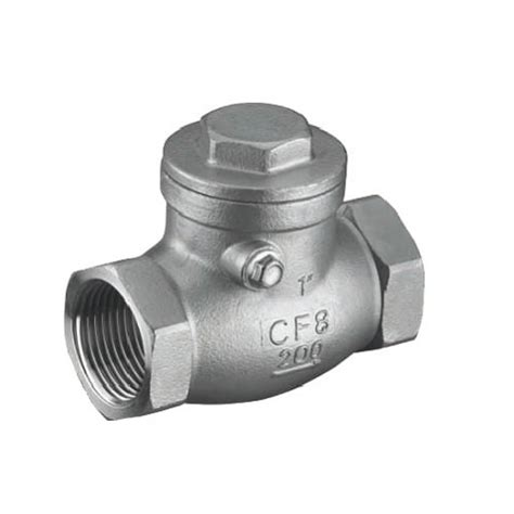 stainless steel swing check valve 200 psi stainless steel thread swing check valve gah14w