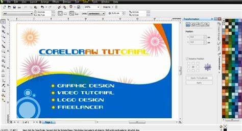 design card template coreldraw getting started with coreldraw x4 how to create business