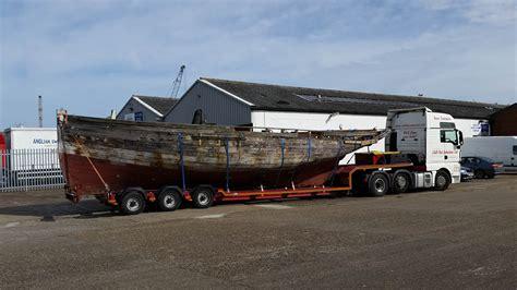boat transport lowestoft shamrock 1890 built brightlingsea fishing smack returns