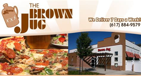 the brown jug pizza restaurant delivery sports bar