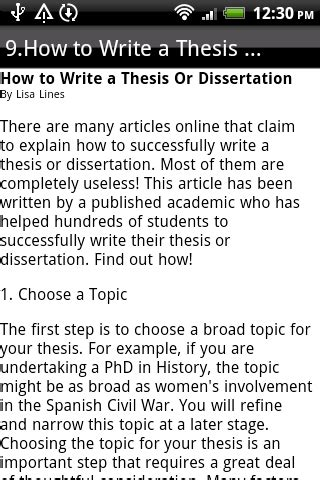 how to lay out a dissertation how to write a thesis android apps on play