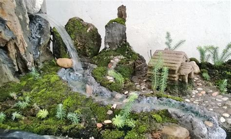 waterfall river   moss diorama mossy diorama