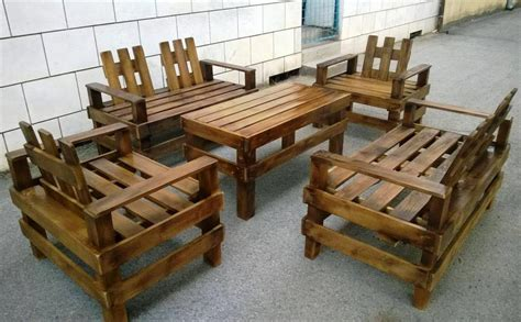 wooden patio furniture sets wooden pallet patio furniture set pallet furniture diy