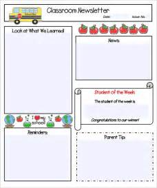printable newsletter templates free sle kindergarten newsletter template 15 free