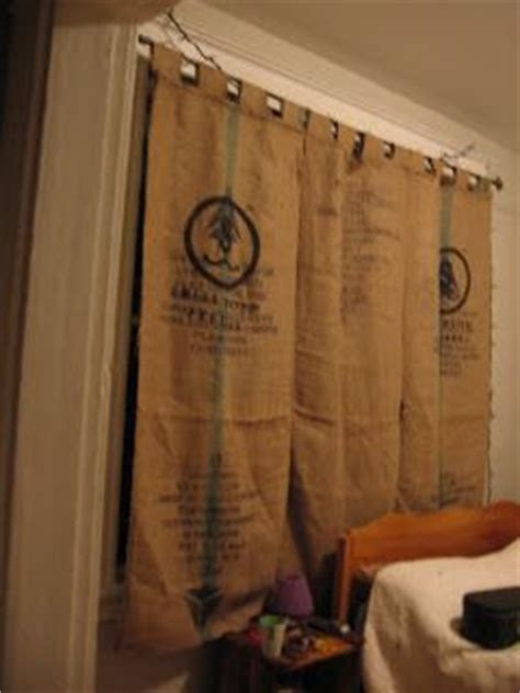 coffee sack curtains coffee sack curtains burlap pinterest