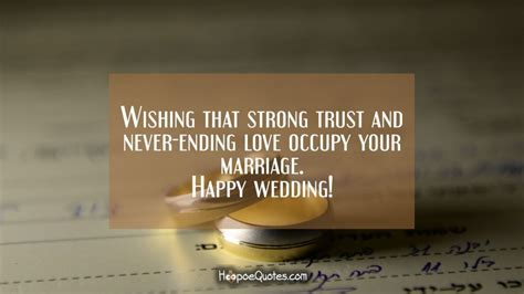 Wedding Wishes Ending by Wishing That Strong Trust And Never Ending Occupy