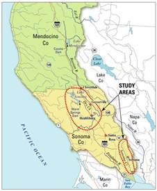 map of sonoma county california usgs california water science center water resources