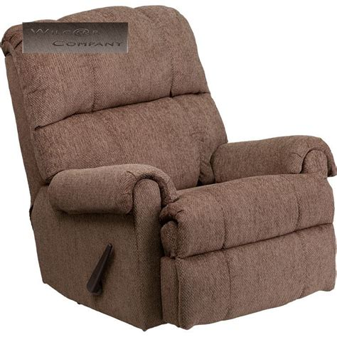 Recliner Chair Furniture New Beige Fabric Rocker Recliner Lazy Chair Furniture