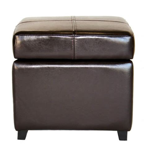 Small Leather Ottoman Baxton Studio Pandora Leather Small Storage Ottoman With Wooden Saves Space At Home