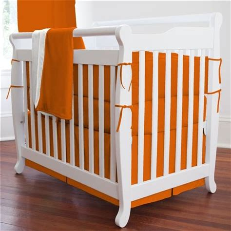 Mini Crib Bumper Pads Solid Orange Mini Crib Bumper Carousel Designs