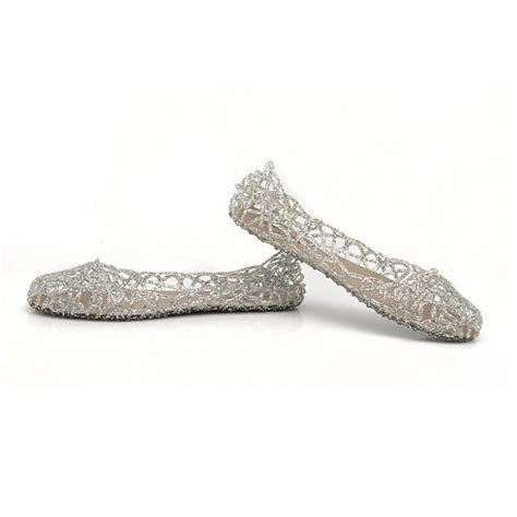 glass slipper flats new summer glass slippers hollow flat with