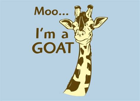 Giraffe Hat Meme - moo i m a goat t shirt snorgtees