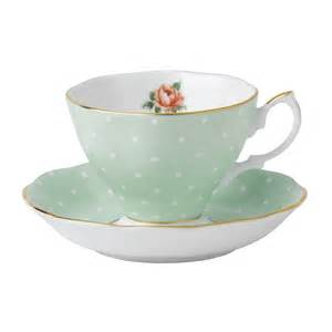 royal albert polka rose teacup saucer set royal albert