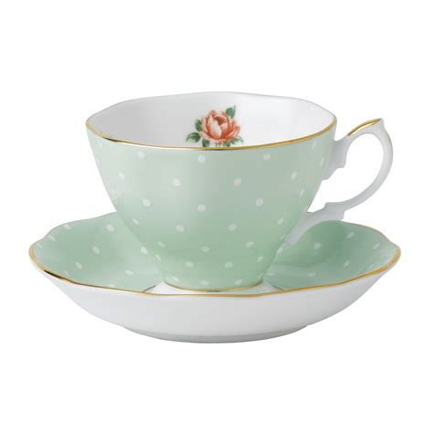 Tea Cup by Royal Albert Polka Teacup Saucer Set Royal Albert