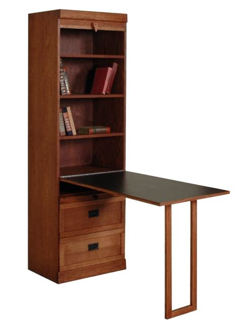 Bookcase With Drop Desk by Mission Style Bookcase With Drop Table And Bottom