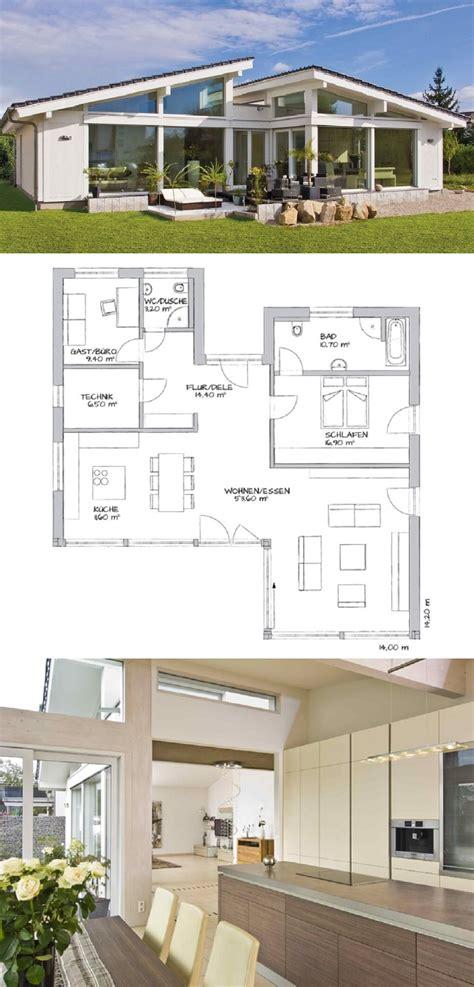 Grundriss Bungalow Modern by Bungalow Mit Pultdach Fassade Au 223 En Modern Mit Fachwerk