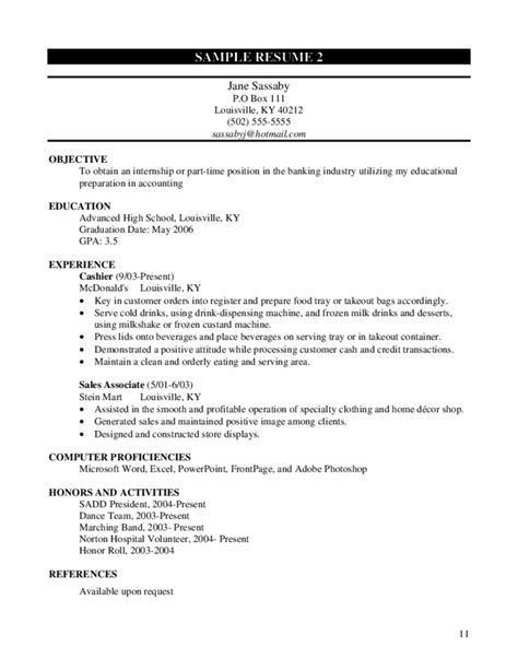 student resume sles high school free worksheet for accounting high school students free