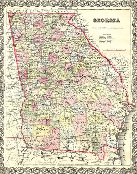 map of ga karte geschichte