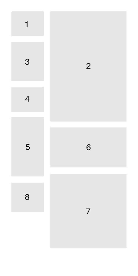 javascript column layout javascript masonry with a 2 column layout how do i