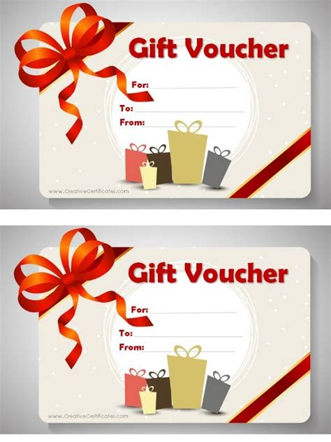 diy voucher template free printable gift voucher template birthday card for
