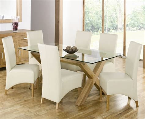 Glass Top Dining Tables And Chairs Dining Room Fascinating Glass Top Dining Room Tables Rectangular For Modern Interior Glass