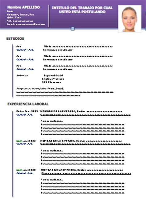 Modelo Curriculum Espa A Word modelo de curr 237 culo pronto em word para baixar gratuito
