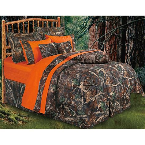 hunters hunting camo comforter bedding set oak