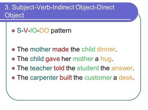 sentence pattern exles asv basic sentence pattern s lv pa exles 6 basic sentence