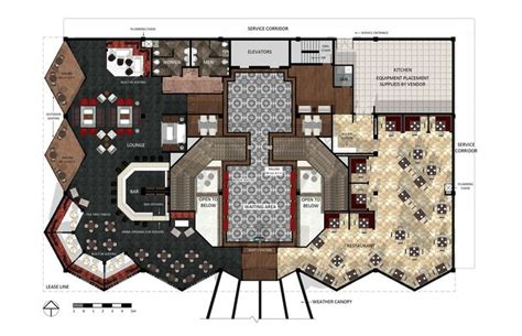 hotel front office layout design hotel lobby floor plan design architecture pinterest