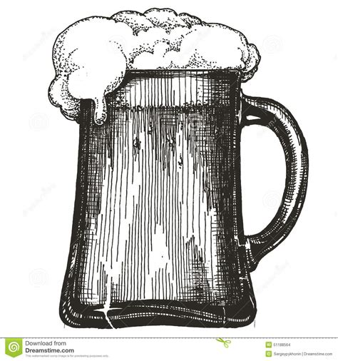 beer cartoon black and white beer mug vector logo design template draught beer stock