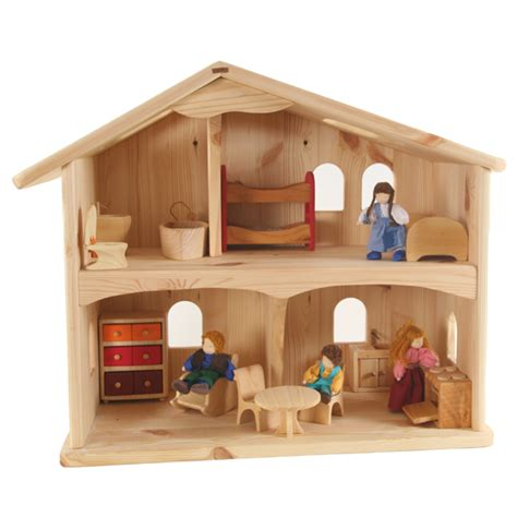 the dolls house pine doll s house myriad natural toys crafts