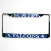 air academy license plate frame air falcons store united states air academy shop