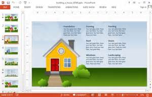 house powerpoint template animated building a house powerpoint template