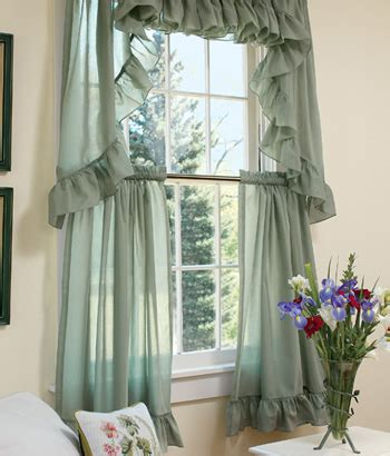 ruffled tier curtains felicity wide ruffled tier curtains country curtains 174