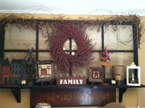 Country Primitives Home Decor Country Style Double Wide Primitive Country Decorating