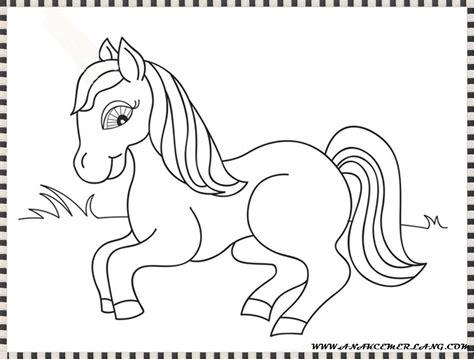 tutorial gambar kuda mewarnai gambar kuda anak cemerlang