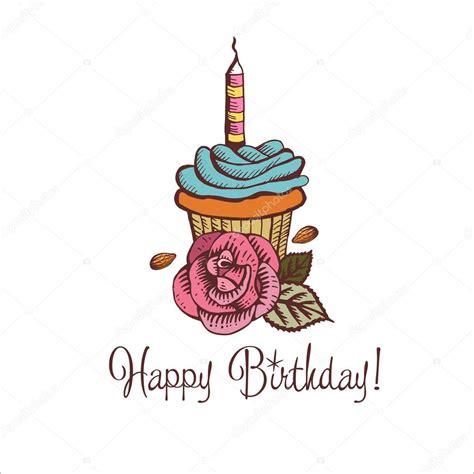 imagenes vintage happy birthday feliz cumplea 241 os ilustraci 243 n de vector vintage de pastel