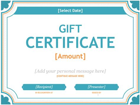 gift certificate template custom gift certificate templates for microsoft word