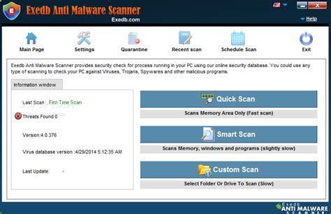 best malware scan exedb anti malware scanner 4 0 377