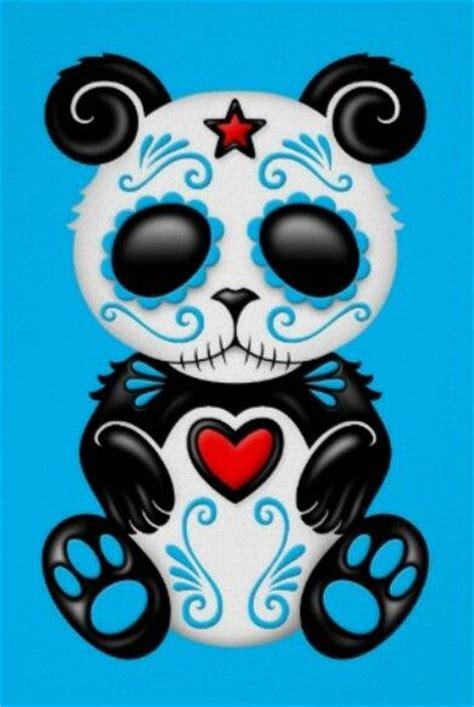 Sugar Skull Panda panda sugar skull sugar skulls sugar skull
