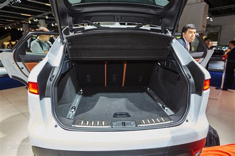jaguar f pace trunk 2016 jaguar f pace looks massive in the metal on the