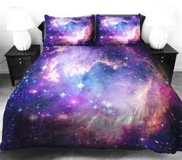 Space Bed Galaxy Bedding Duvet And Pillow Cases