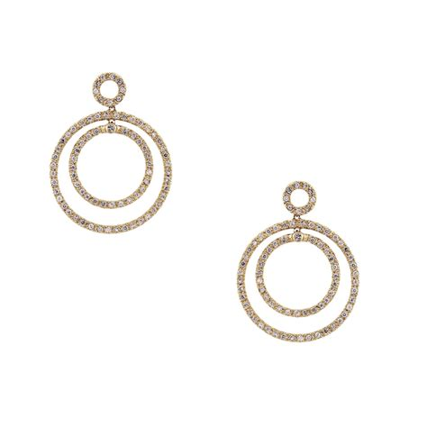 Multi Circle Earring 14k yellow gold multi circle earrings boca raton